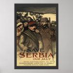 Salvar o vintage da Primeira Guerra Mundial de Poster