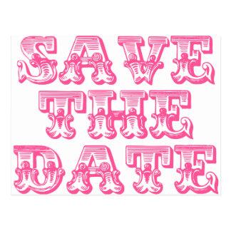Salvar os cartão da data no rosa quente/Fuschia