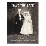Salvar os cartão da data (o casal de esqueleto do  cartão postal