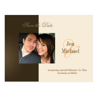 Salvar os cartão da foto da data, cartões postais