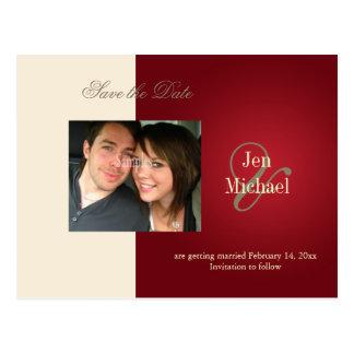 Salvar os cartão da foto da data cartoes postais