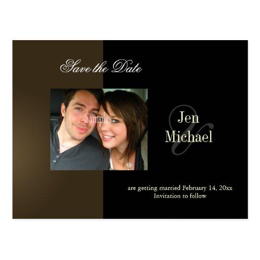 Salvar os cartão da foto da data, cartao postal