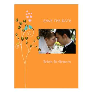 Salvar os cartão da foto da data, pássaros do amor cartão postal