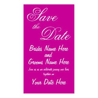Salvar os cartões do anúncio da data cartão de visita