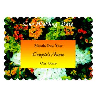 Salvar os cartões florais da data convite 12.7 x 17.78cm