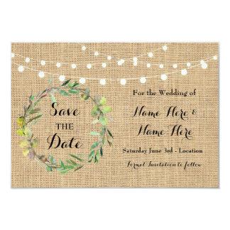 Salvar os cartões florais da festa de casamento do