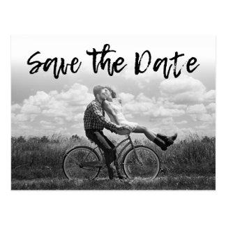 SALVAR os convites Cursive do casamento da foto da Cartão Postal