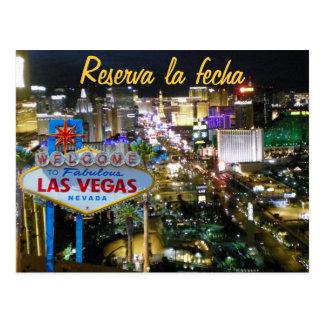 Salvar os espanhóis de Las Vegas da data Cartão Postal