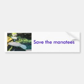Salvar os peixes-boi adesivo para carro