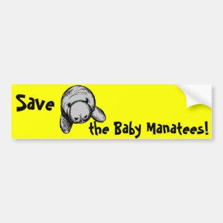 Salvar os peixes-boi do bebê! adesivos
