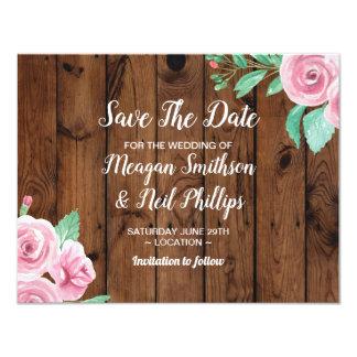 Salvar os rosas da flor do rosa do cartão de