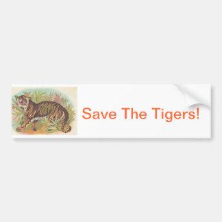 Salvar os tigres adesivo para carro