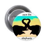 Salvar os troncos do coração dos elefantes botons