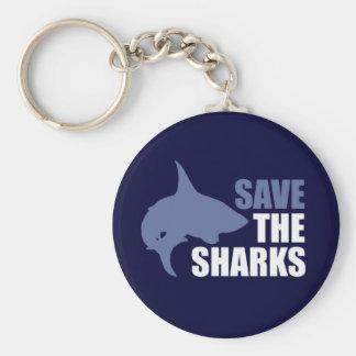 Salvar os tubarões, salvar as aletas chaveiros
