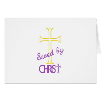 Salvar pelo cristo cartão comemorativo