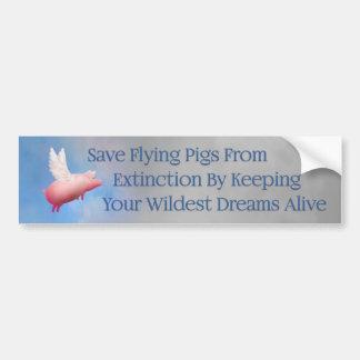 Salvar porcos do vôo adesivo para carro