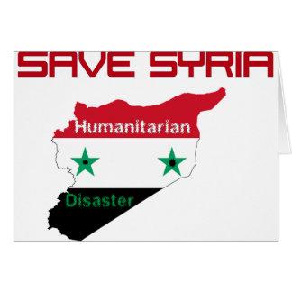 Salvar syria cartão comemorativo