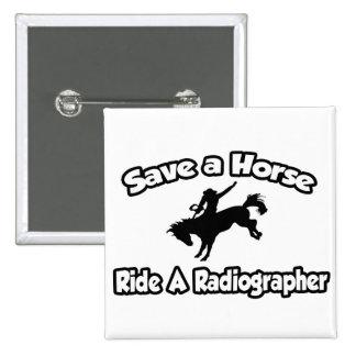 Salvar um cavalo, monte um técnico de radiologia bóton quadrado 5.08cm