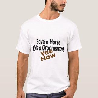 Salvar um passeio do cavalo um Haw de Yee do Camiseta