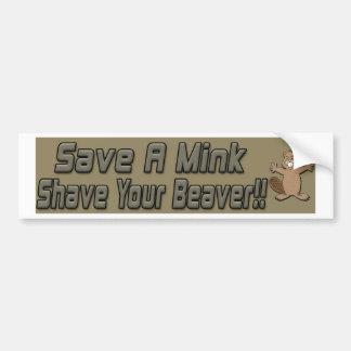 Salvar um Shave do vison você autocolante no vidro Adesivos