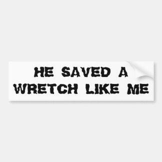 Salvar um Wretch como mim Adesivo Para Carro