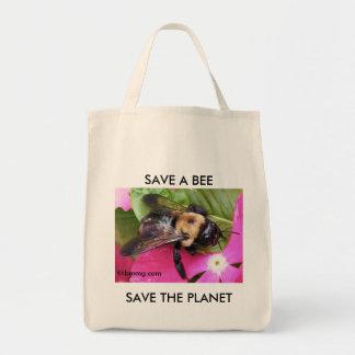Salvar uma abelha, salvar o planeta bolsa tote