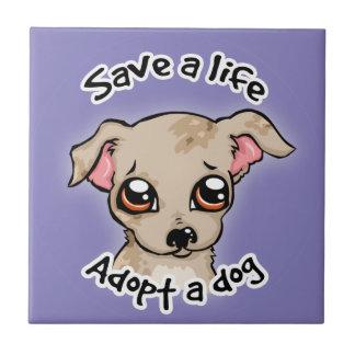 Salvar uma vida. adote um logotipo do filhote de