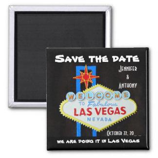 Salvar Wedding de Las Vegas da data Ímã Quadrado