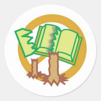 Salve do livro e da conserva o como arvores adesivo