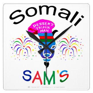 Sam somaliano, homem do caminhão da sobremesa, relógios para paredes