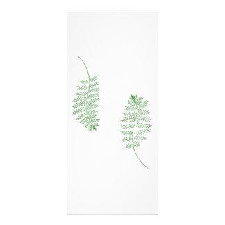 Samambaia verde, cartões Wedding do menu 10.16 X 22.86cm Panfleto