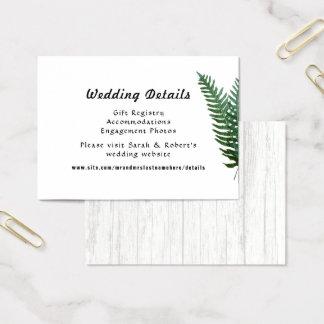 Samambaias que Wedding cartões do cerco do Web