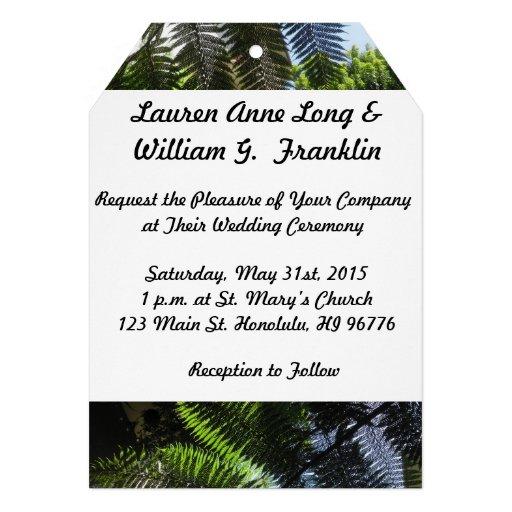 Samambaias tropicais que Wedding o convite