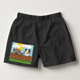 Samba-canção Cães afortunados da ilustração em uma cerca de