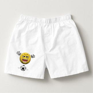 Samba-canção Emoticon amarelo ou smiley do futebol
