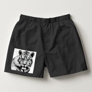 Samba-canção Olhos azuis preto e branco do tigre