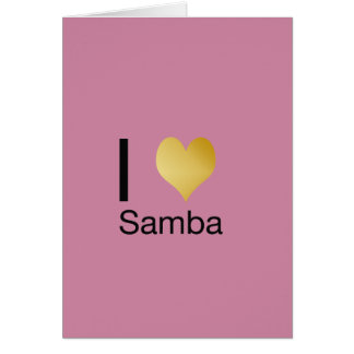 Samba Playfully elegante do coração de I Cartão