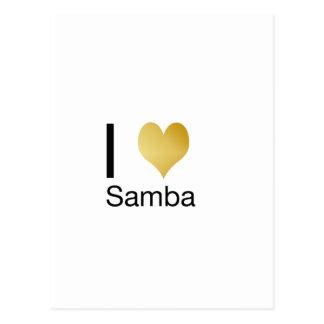 Samba Playfully elegante do coração de I Cartão Postal