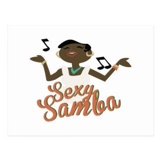 """Samba """"sexy"""" cartão postal"""