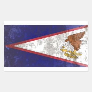 Samoa Americanas Adesivo Retangular