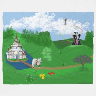 Samoyed em Avalon do rei Arthur; Grail procurando Cobertor De Lã