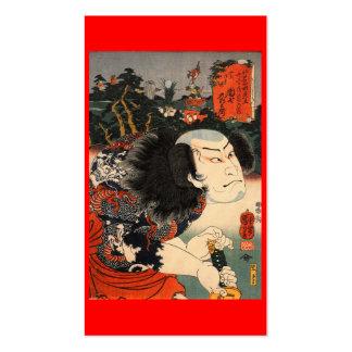 Samurai C. de pintura japonês 1800's Cartao De Visita