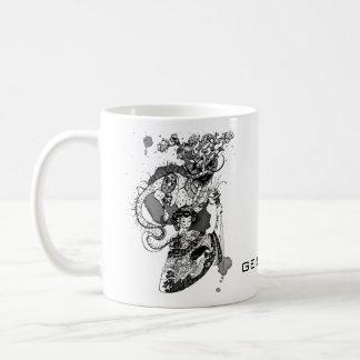 Samurai da gueixa caneca de café