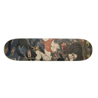 Samurai do tatuagem shape de skate 18,4cm