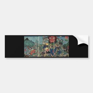 Samurai na pintura da guerra cerca de 1800's adesivo para carro