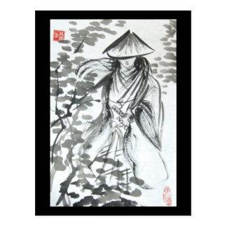 Samurai no cartão da floresta