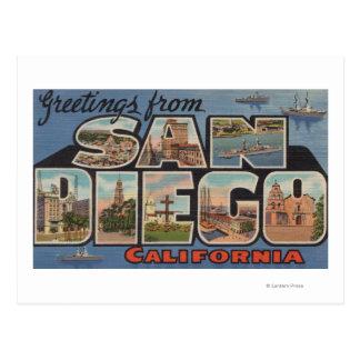 San Diego, Califórnia - grandes cenas da letra Cartão Postal