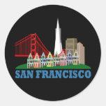 San Francisco Adesivo Em Formato Redondo