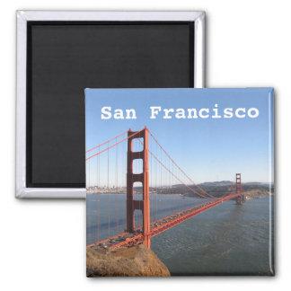 San Francisco CA, imã de geladeira de golden gate
