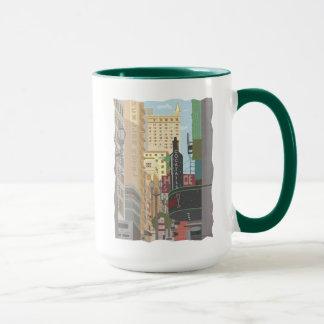 San Francisco-Powell e caneca de café de O'Farrell
